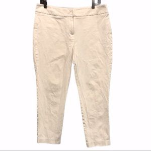 White Peter Nygard cotton crop ankle pants size 10